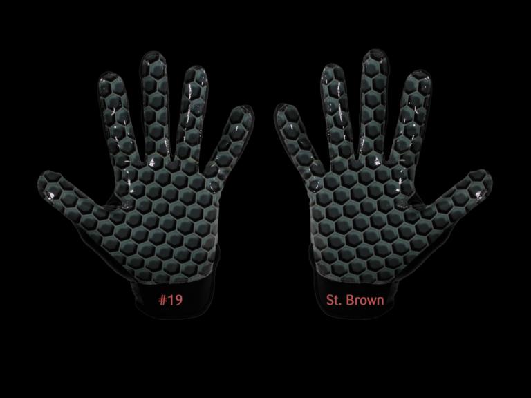 American Football Gloves individual printing