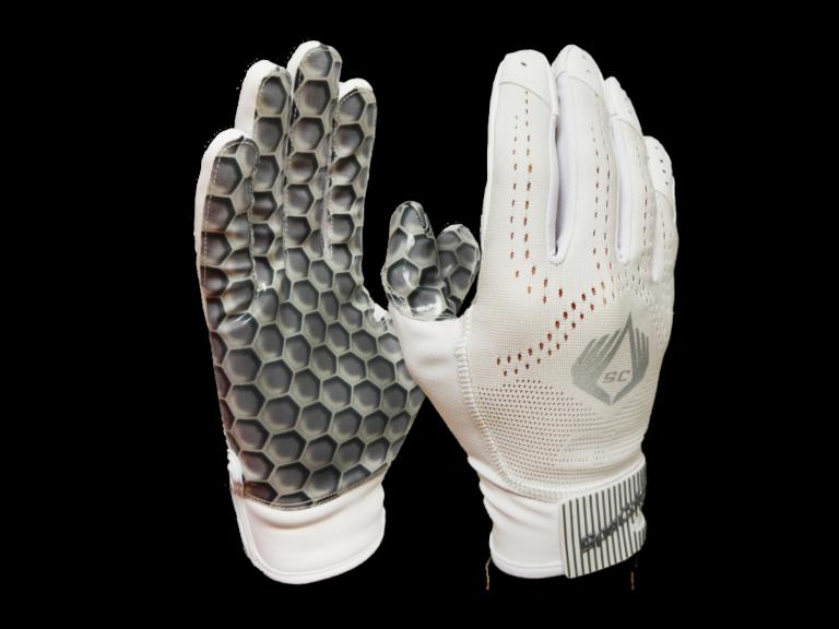 American Football Glove Hexagon White SpeCatch