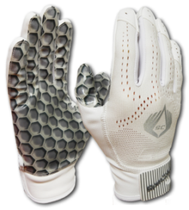 American Football Glove Hexagon White SpeCatch