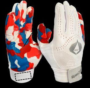 SpeCatch customized football glove Bubblegum White