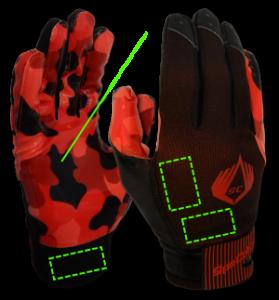 SpeCatch customized football glove Bubblegum Black
