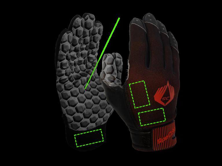 SpeCatch customized football glove Hexagon Black