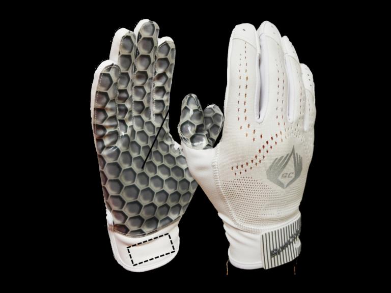 SpeCatch customized football glove Hexagon White